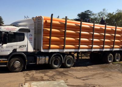 Gas pipe delivery to egoli gas